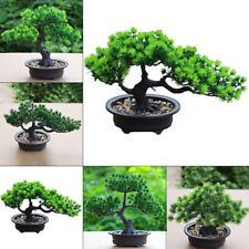 Artificial Bonsai Tree Fake Green Plant Simulation Pine Trees Office Desk Decor