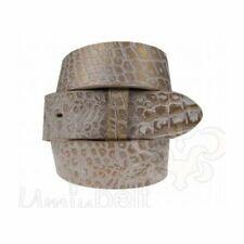 Vamoda Pelle Cintura Cintura di cambio Doncaster NERO 4cm