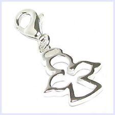 Sterling Silver Angel w/ Halo Lobster Clasp Clip Bead f/ European Charm Bracelet