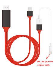 HDMI TV AV Adapter USB Cable For iPhone 5 6 7 ipad Samsung Galaxy S8 Plus LG G5