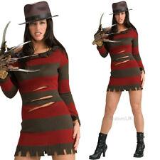 UFFICIALE DONNA FREDDY KRUEGER vestito per Halloween Horror Rubies 888636