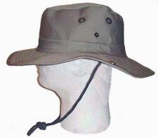 Boonie Fishing Hiking Snap Brim Army Military Bucket Sun Hat Cap-Khaki