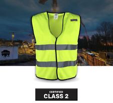 Hi Vis Safety Vest ANSI Class 2 Radio Walkie Talkie Clip M-4XL Buffalo Outdoors
