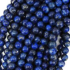 "Blue Lapis Lazuli Round Beads 15.5"" Strand 2mm 3mm 4mm 6mm 8mm 10mm 12mm 14m"