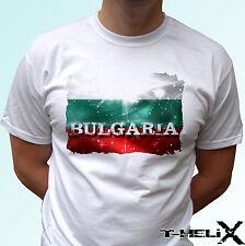 Drapeau de la Bulgarie-Blanc T Shirt Haut Pays Design-Hommes Femmes Enfants Bébé Tailles