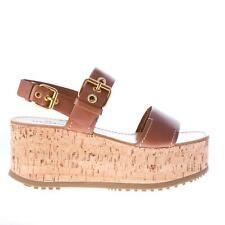 CAR SHOE scarpe donna women shoes sandalo in pelle BRANDY con fibbie dorate