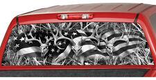 AMERICAN FLAG BUCK SKULL b/w Camo Rear Window Graphic Decal Tint suv camouflage