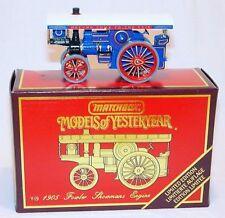 Matchbox Models of Yesteryear 1905 FOWLER SHOWMANS STEAM ENGINE Y-19 MIB`86 RARE