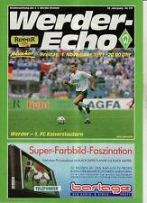 BL 91/92 SV Werder Bremen - 1. FC Kaiserslautern