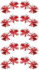Zest Navidad Oropel rosetas con campanas de pelo Dormilones diapositivas Rojo