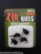 ESP ZIG BUGS WATER BOATMAN IN BARBED or BARBLESS - CARP FISHING