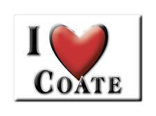 SOUVENIR UK - ENGLAND FRIDGE MAGNET UNITED KINGDOM I LOVE COATE (WILTSHIRE)
