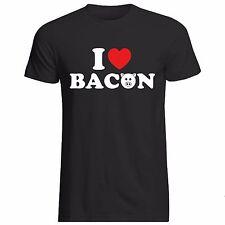 Me encanta tocino Camiseta-Todas las Tallas + Cols (comida sándwich de jamón de cerdo de carne de cerdo Corazón)