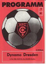 OL 81/82 HFC Chemie - SG Dynamo Dresden