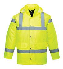 Portwest Quality Hi Vis Unisex Waterproof  Parka Traffic Work Jacket