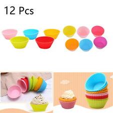 12PCS Muffinförmchen Silikon Rose Backformen Cupcake Gebäckförmchen Muffinform