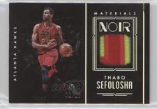 2016-17 Panini Noir Materials Color Patches MC-TSE Thabo Sefolosha Atlanta Hawks