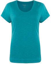 New Reebok Top T-Shirt - Turquoise - Ladies Womens Girls, Gym Training Fitness