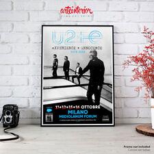 U2 Experience + Innocence Tour 2018 Milano | Fine Art Print Poster Manifesto HR