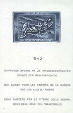 Suiza bloque 11 post frescos ** mnh/con sello kriegsgeschädigte 1945