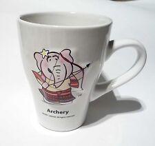 MILO Ceramic MUG CUP Sports ARCHERY 2007  Malaysia Nestle
