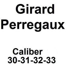 33 movement parts new old stock Girard Perregaux caliber 30 31 32