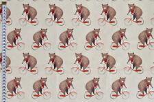 Lindo osos en bicicletas de Tela Calidad de la tela para cojines y artesanías