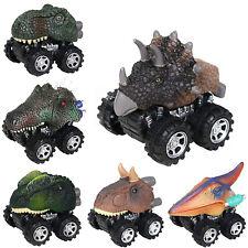 Mini Kids Dinosaur Cars Model Toys Set Pull Back Vehicle Animal Girl Boys Gift