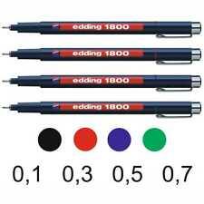EDDING  Fineliner Faserschreiber 1800 profipen [Stärke + Farbe wählbar]