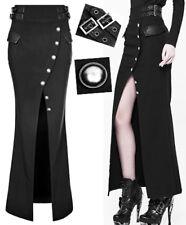 Jupe sirène longue fendu pin-up militaire gothique lolita bouton sangle Punkrave