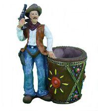 Dekofigur Stiftehalter Stiftebox Vase Cowboy Westerndekoration Colt Winchester
