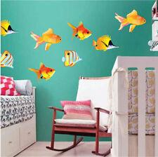 Fish Wall Decals Ocean Life Kids Room Wall Mural Bright Colors Wallpaper, n04