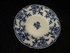 ANTIQUE MINTON ANEMONE FLOW BLUE SOUP PLATE
