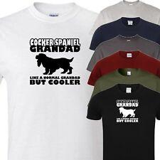cocker spaniel grandad novelty t shirt (all dog breeds available)