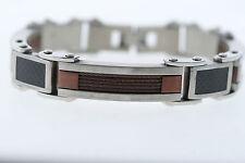 Stainless Cable Carbon Fiber & Copper Bracelet