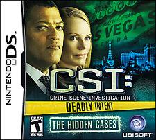 CSI: Crime Scene Investigation Deadly Intent The Hidden Cases DS Lite 3DS XL