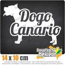 Dogo Canario mit Name Hund csf0748  JDM  Sticker Aufkleber