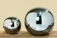 Kugel Maseru Steingut silber glänzend versch. Größen Dekokugel Home