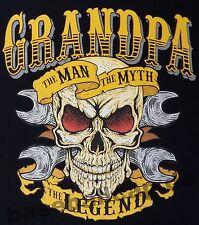 T-shirt #711 Grandpa, Biker Hot Rod Dragster Pinup v8 Skull custom