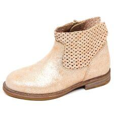 E2294 stivaletto bimba platino UNISA RAMBLA scarpe biker boot shoe kid girl