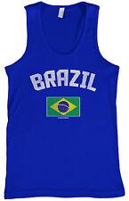 Threadrock Men's Brazil Brazilian Flag Tank Top Brasil Pride