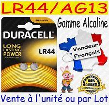 Piles bouton LR44 AG13 DURACELL - Dispo aussi CR2032 CR2025 CR2016 CR2430 CR2450