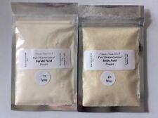 [2PK] Feruic Acid Powder & Kojic Acid Powder: Anti-aging, Reduce Wrinkles