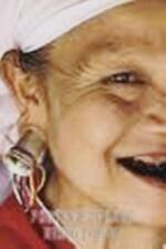 Vintage Karen Hill Tribe Silver Flesh Tunnel Earrings Ear Plugs 1.5 inch