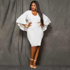 Plus Size White Long Sleeve O Neck T-shirt Dress Clothing Skirt TOP Sling Blouse