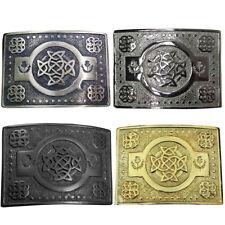 CC Highland Kilt Boucle de ceinture Celtic Knot travail or/antique/Chrome/Finition Noire