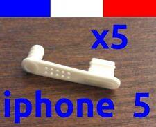 5 cache anti-poussière BLANC lightning capuchon bouchon jack pour iphone 5 5C 5S