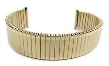 Herzog Flex Band Ersatzband Uhrenarmband PVD Gold Zugband 20mm 21103