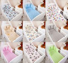 Baby Bettwäsche Nestchen Bettset 100x135 für Babybett Decke Kissen Bettumrandung