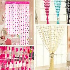 Heart Shaped Door Window Hanging String Curtain Net Cute Kids Bed Room Divider J
